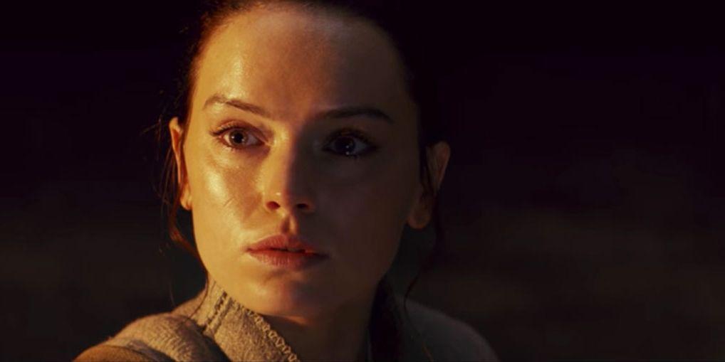 Daisy Ridley as Rey in Star Wars: The Last Jedi trailer