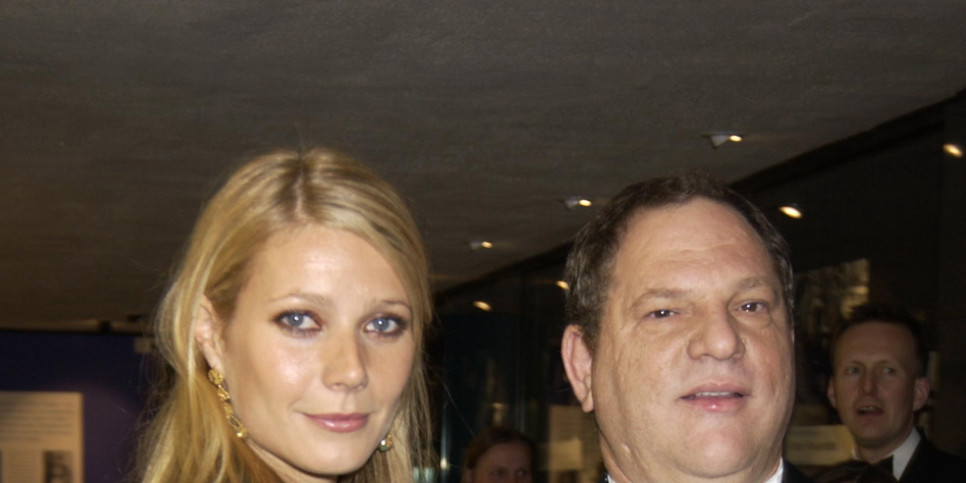 Gwyneth Paltrow and Harvey Weinstein at the 50th Anniversary Gala of the National Film Theatre