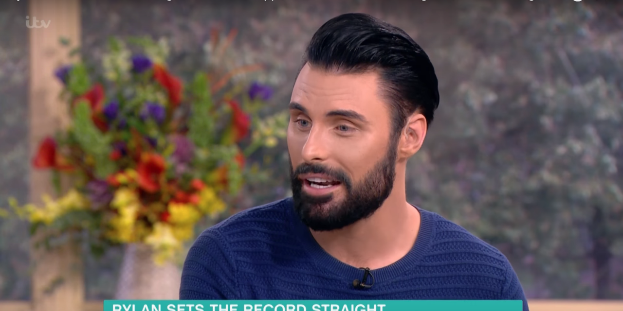 Rylan discussing Chris Hughes feud on This Morning