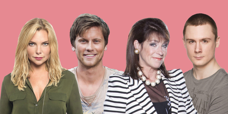 Ronnie Mitchell (EastEnders), Lee Carter (EastEnders), Viv Hope (Emmerdale) and Daniel Robinson (Neighbours)