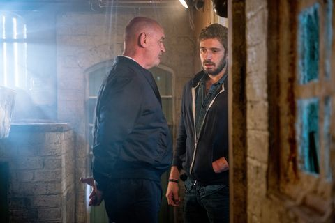 Pat Phelan talks to Andy Carver about his replacement in Coronation Street