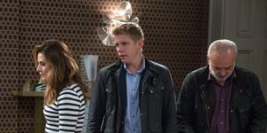 Robert Sugden fears Chrissie White will expose his secret in Emmerdale