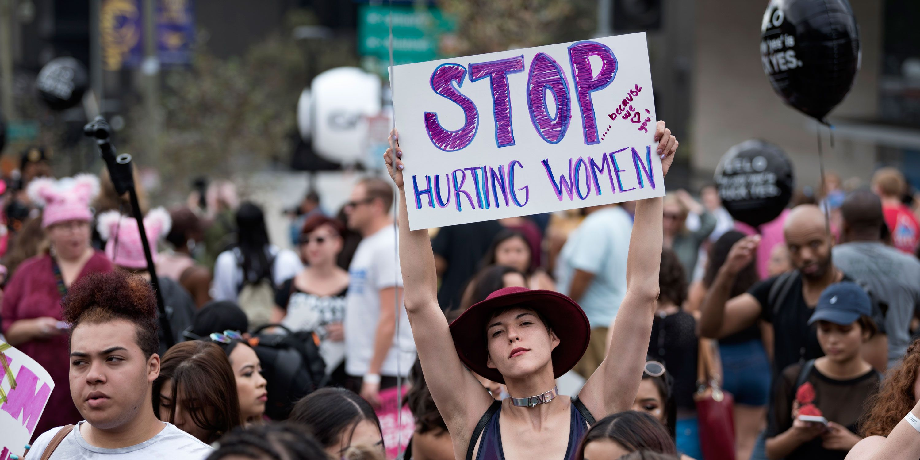Participants in the 3rd Annual Amber Rose SlutWalk in Los Angeles, California. October 1, 2017
