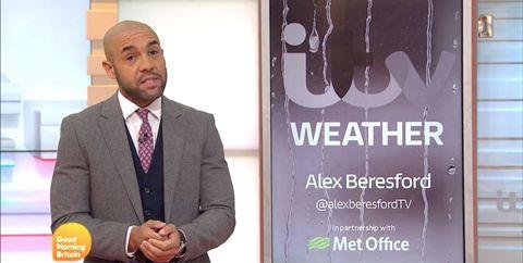 Alex Beresford, Good Morning Britain, British Storm Names