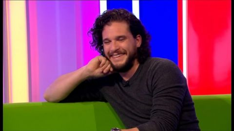 Kit Harington blows up his own hair on The One Show