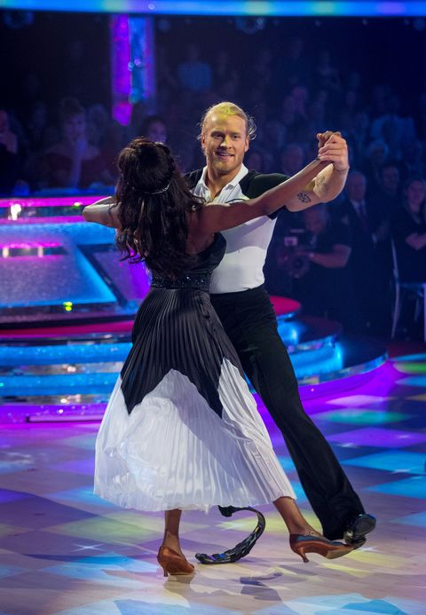 Oti Mabuse and Jonnie Peacock on Strictly Come Dancing week 5