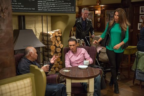 Megan Macey confronts Jai Sharma in Emmerdale