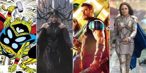 Thor: Ragnarok Easter eggs on thor beautiful planet, superman's home planet, spock's home planet, thor's home city, thor's home asgard, cartoon thor home planet,