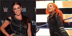 Stephanie McMahon and Becky Lynch