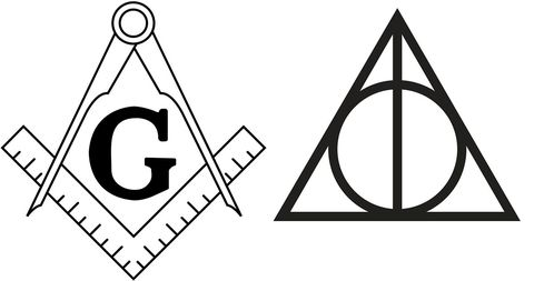 85ca30a09 JK Rowling's inspiration for Harry Potter's Deathly Hallows symbol