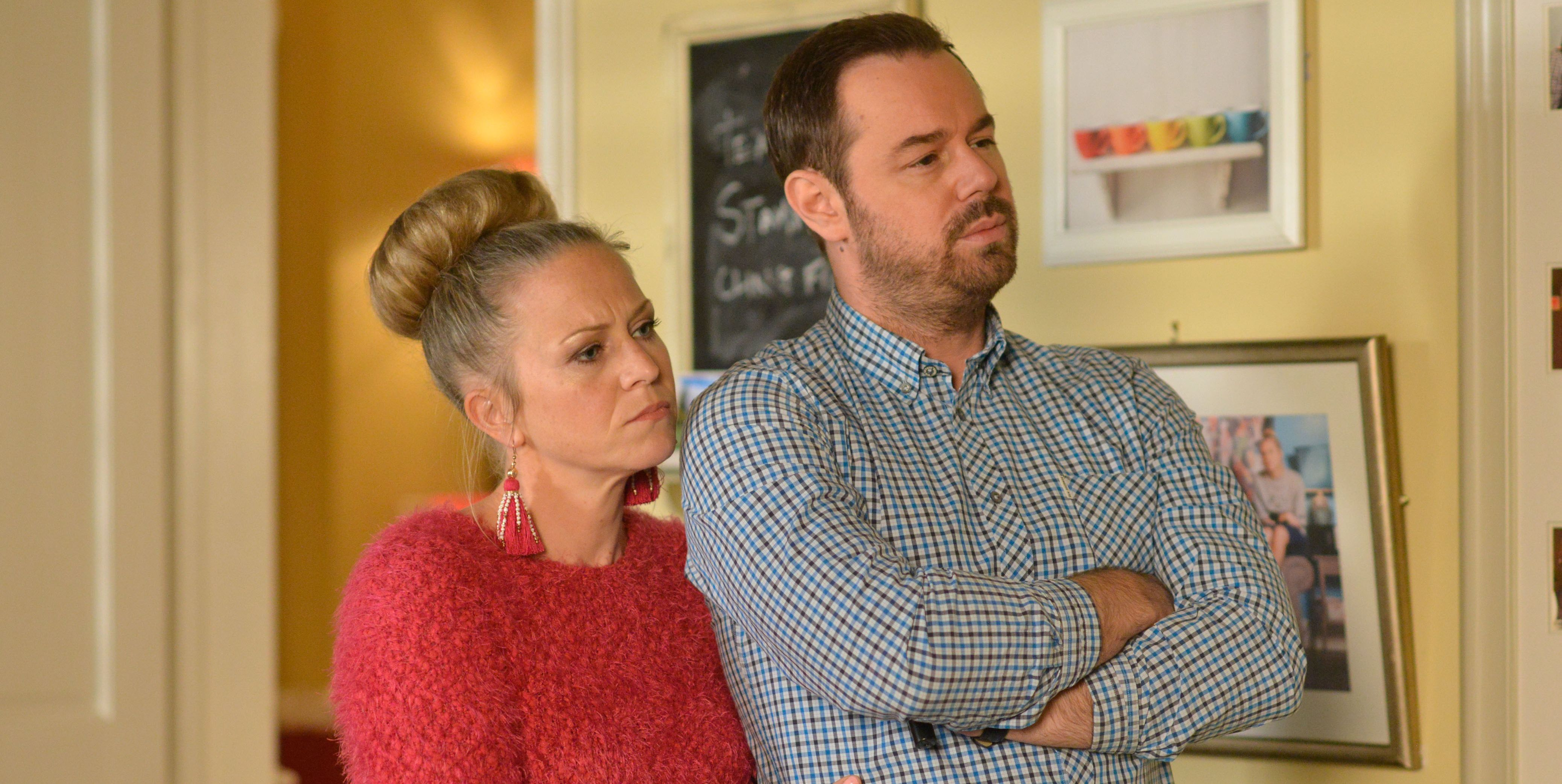 Mick and Linda Carter contemplate the future in EastEnders