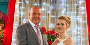 Dirk Savage and Cindy Cunningham's wedding day in Hollyoaks