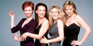 Sex and the City cast, 1999, Cynthia Nixon, Kristin Davis, Sarah Jessica Parker, Kim Cattrall