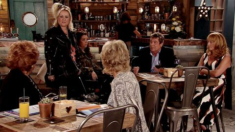 Johnny Connor tells Aidan and Jenny about moving to Spain in Coronation Street