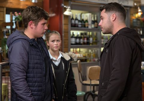 Gerry wants to move in with Aaron Dingle and Liv Flaherty in Emmerdale