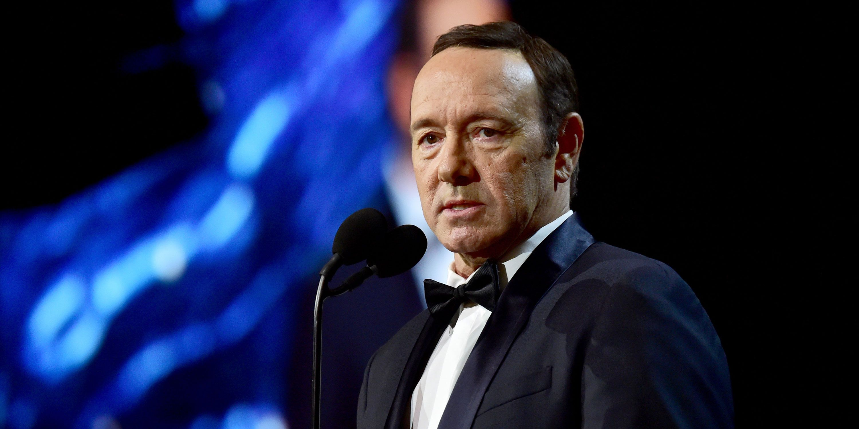 Kevin Spacey speaks onstage at the 2017 AMD British Academy Britannia Awards