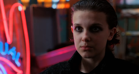 Stranger Things Eleven goth make over