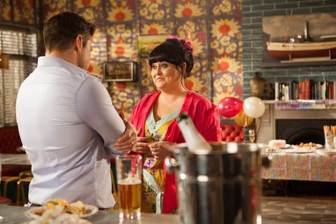 Ryan Knight flirts with Tegan Lomax and gets surprised by Kyle Kelly in Hollyoaks