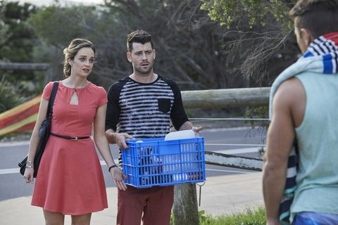 Brody and Tori Morgan remind Mason about his important meeting at the hospital in Home and Away