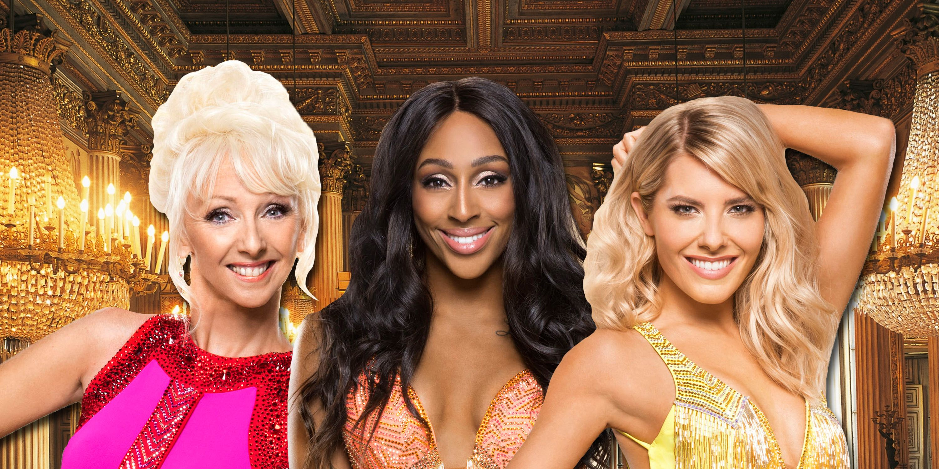 EMBARGO until 6:45pm on Tuesday 7th November, Debbie McGee, Alexandra Burke, Mollie King, Strictly Come Dancing