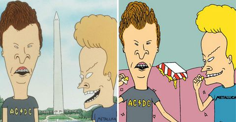 Beavis and Butthead in 1997 and 2011