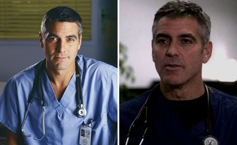 George Clooney in ER in 1999 and 2009
