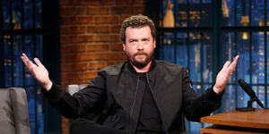Actor Danny McBride during interview on September 11, 2017