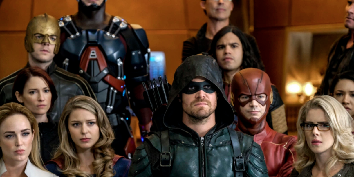 Arrow, Supergirl, The Flash and DC's Legends of Tomorrow crossover, Crisis on Earth-X: White Canary, Supergirl, Alex Danvers, Green Arrow, The Flash, Felicity Smoak and Cisco Ramon