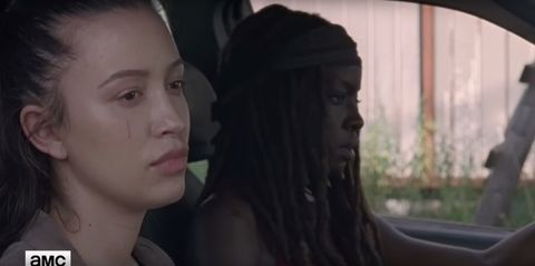 Rosita and Michonne in The Walking Dead S8 ep6 preview clip