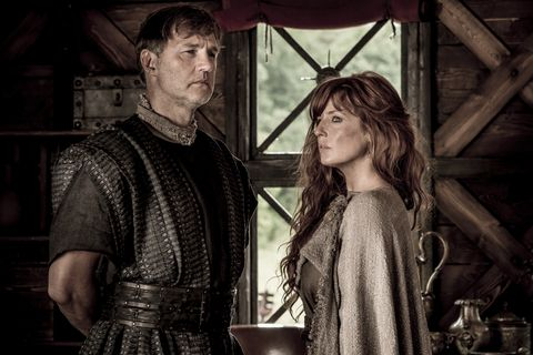 David Morrissey and Kelly Reilly in Britannia