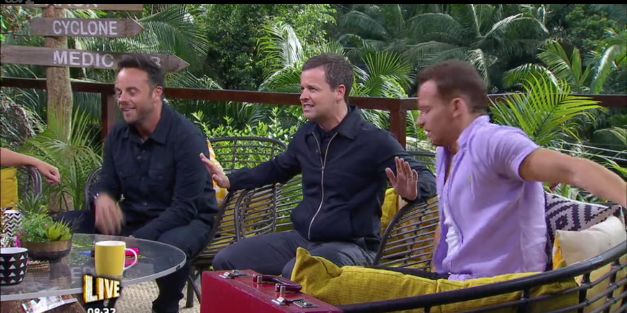 Ant, Dec and Joe Swash on I'm a Celebrity: Extra Camp