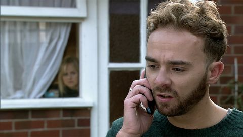 David Platt receives an important phone call in Coronation Street
