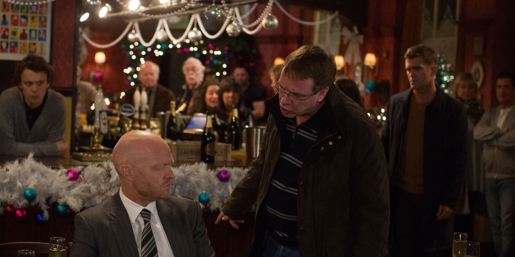 Ian Beale confronts Max Branning in EastEnders