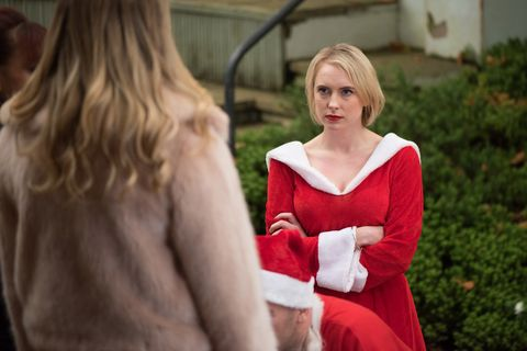 Darcy Wilde announces baby news to Maxine Minniver in Hollyoaks