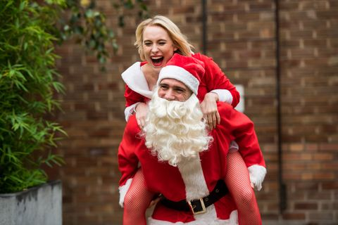 Maxine Minniver interrupts Adam Donovan and Darcy Wilde when she returns to the village with Minnie in Hollyoaks