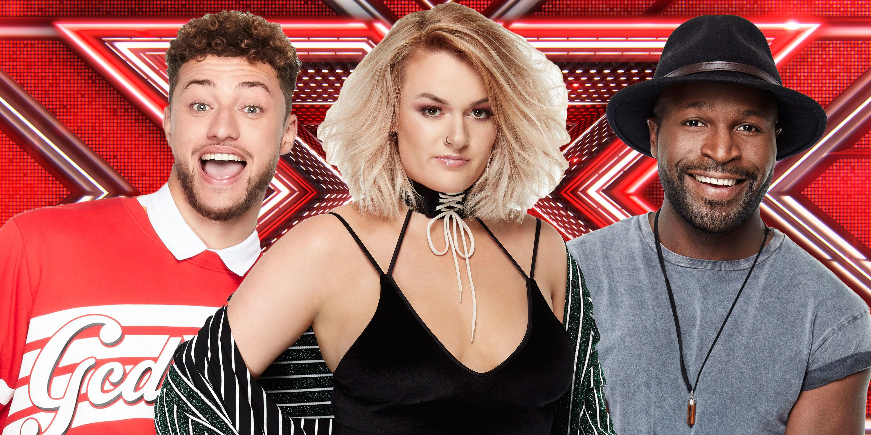 X Factor finalists, Myles, Rak-Su, Grace Davies, Kevin Davy White