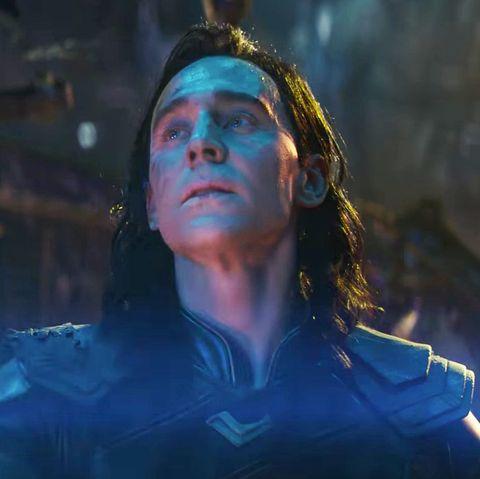 tom hiddleston as loki in avengers infinity war trailer