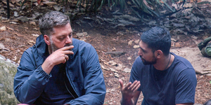 STRICT EMBARGO - NOT FOR USE BEFORE 22:30 GMT THURSDAY 30th NOVEMBER 2017: I'm a Celebrity's Iain Lee and Amir Khan