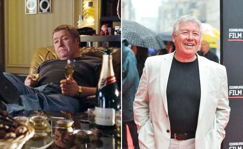 """<p>Playing Billy Mack's longtime manager Joe, Scottish comedy legend Fisher had made his name as Rab C Nesbitt, a role he returned to post-<i data-redactor-tag=\i\"""">LoveActually</i>. Gregor continues to act"""