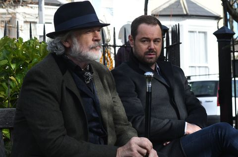 Aidan Maguire and Mick Carter discuss the job in EastEnders