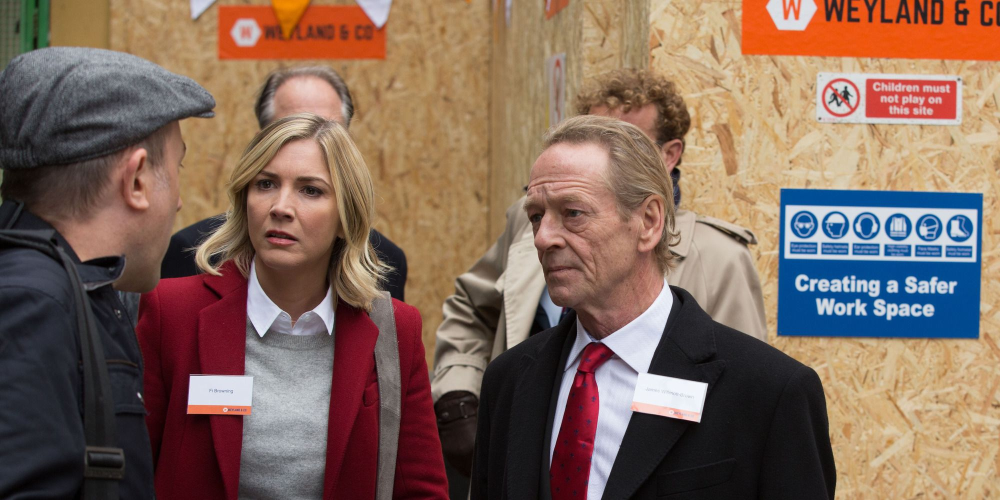 Fi Browning and James Willmott-Brown have a press launch in EastEnders