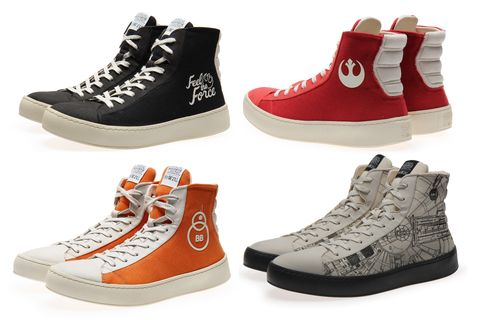 """<p>Shoe specialists Po-Zu are strong with the Force in their<em data-redactor-tag=\em\"""" data-verified=\""""redactor\""""> Star Wars</em> collection"""