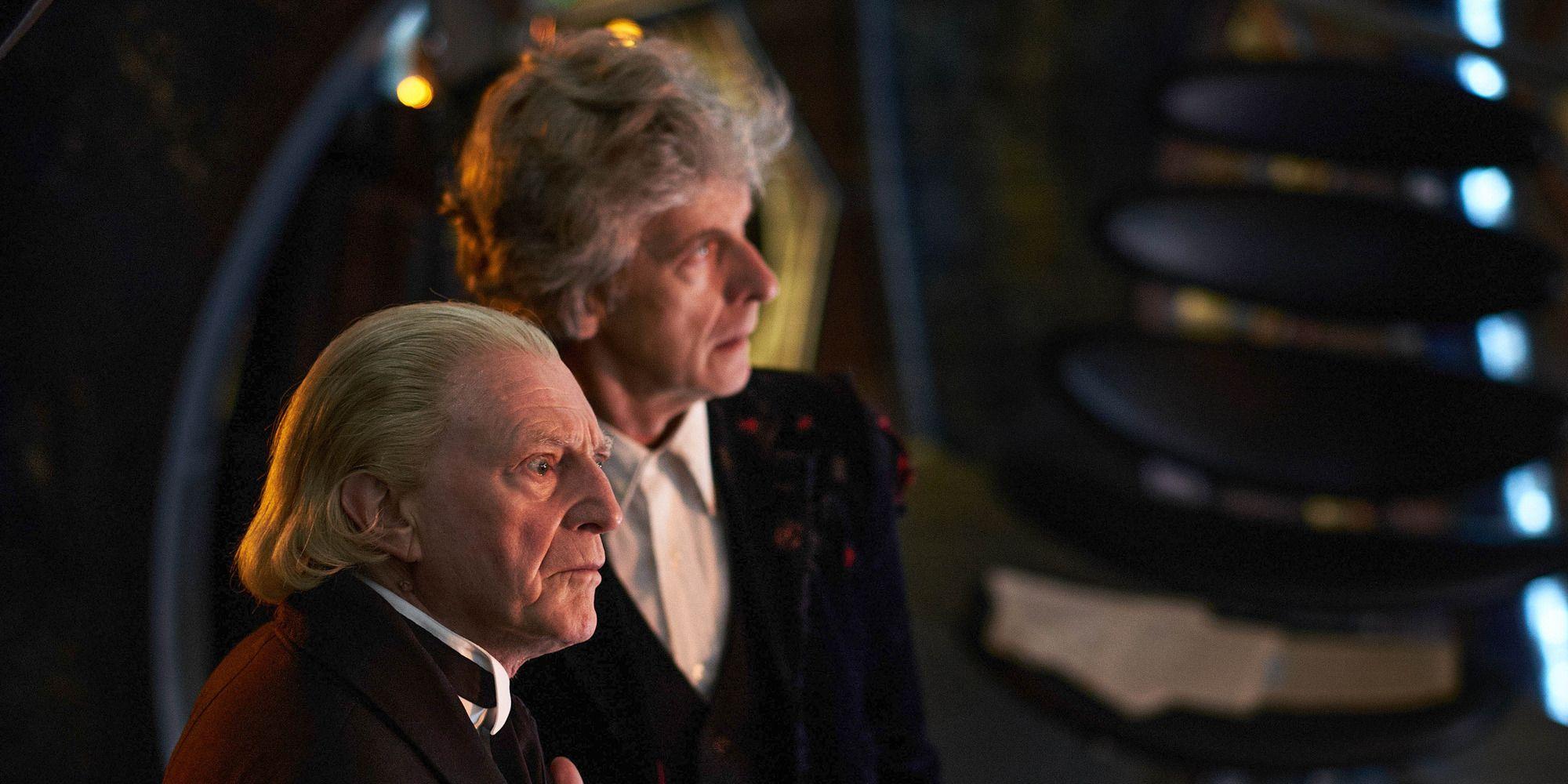 David Bradley (First Doctor), Peter Capaldi (Twelfth Doctor)