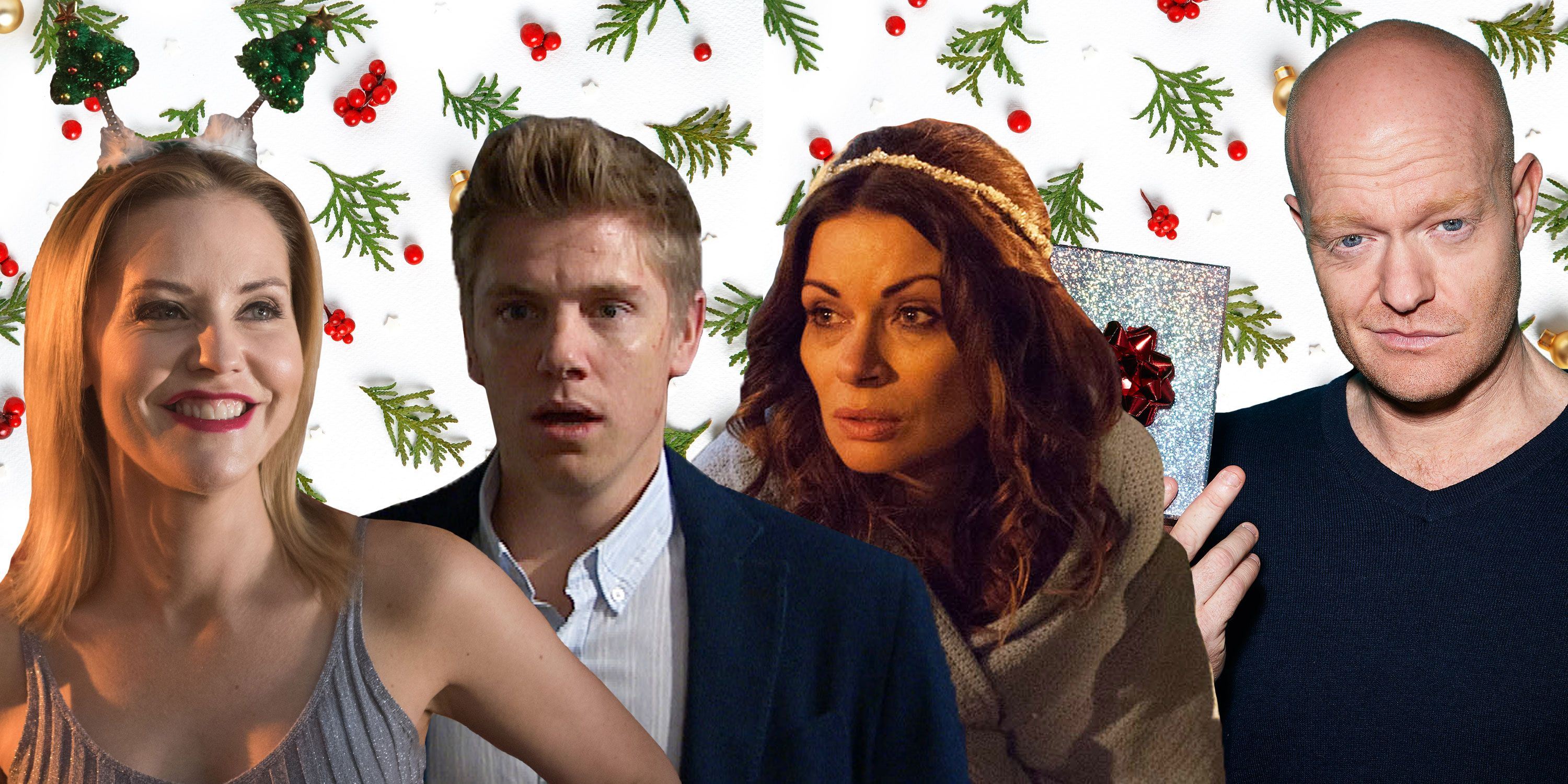 PHOTOSHOP, Soaps Christmas Max Branning (EastEnders), Cindy Cunningham (Hollyoaks), Carla Connor (Corrie) and Robert Sugden (Emmerdale)