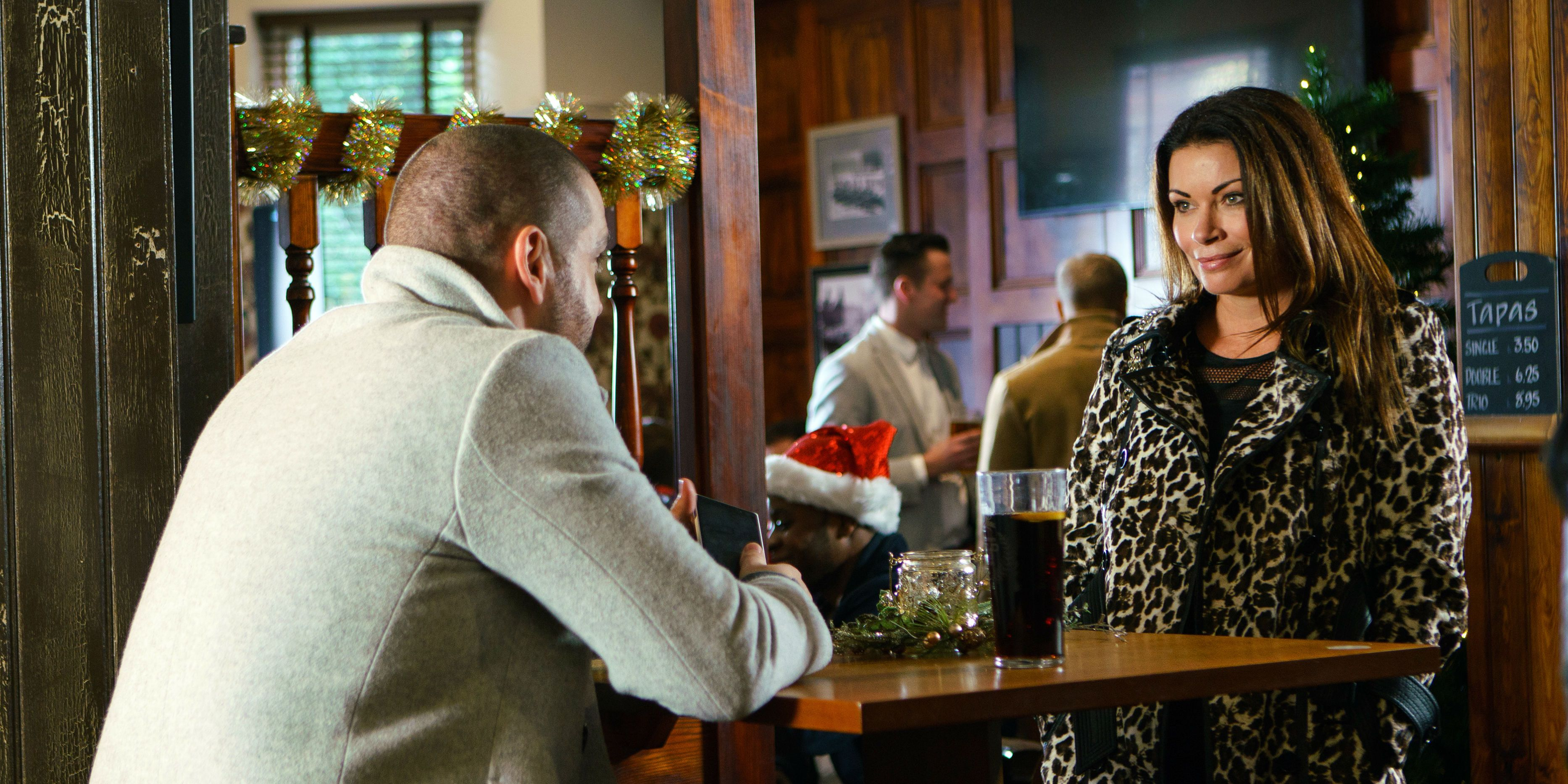Carla Connor meets up with Aidan as she returns to Coronation Street