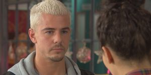 Joel Dexter and Cleo McQueen at Christmas in Hollyoaks