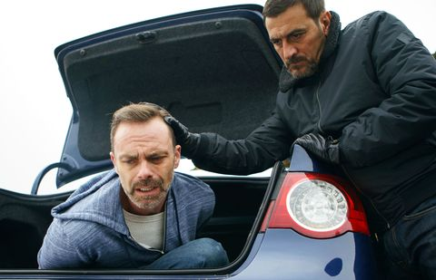 Billy Mayhew is kidnapped by Peter Barlow in Coronation Street