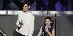 Katie Holmes and Suri Cruise perform during the 2017 Z100 Jingle Ball at Madison Square Garden