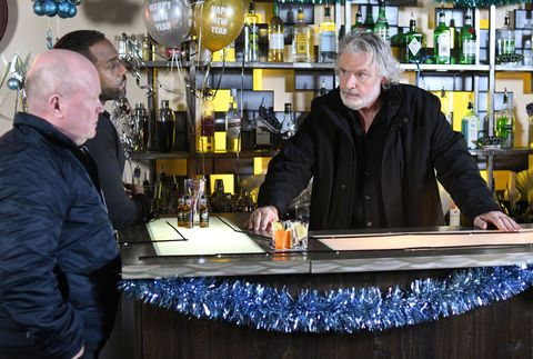 Aidan Maguire, Phil Mitchell and Vincent Hubbard make final preparations in EastEnders