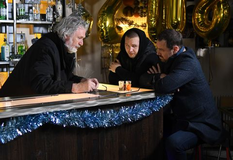 Aidan Maguire, Keanu Taylor and Mick Carter make final plans in EastEnders
